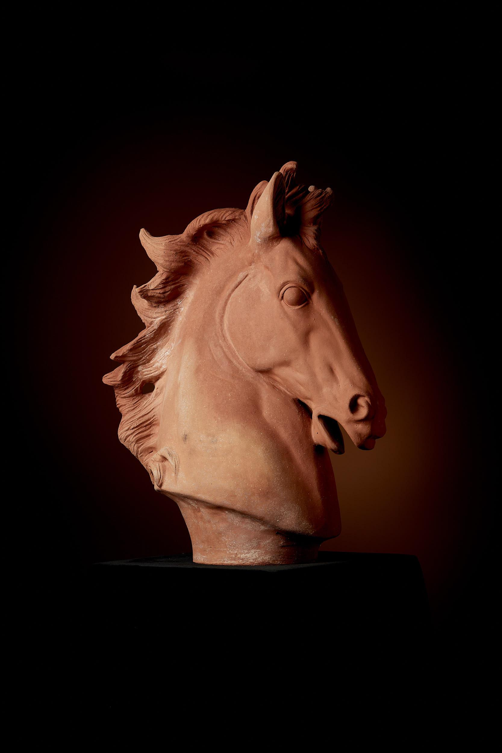 Skulptur Pferdekopf, klein